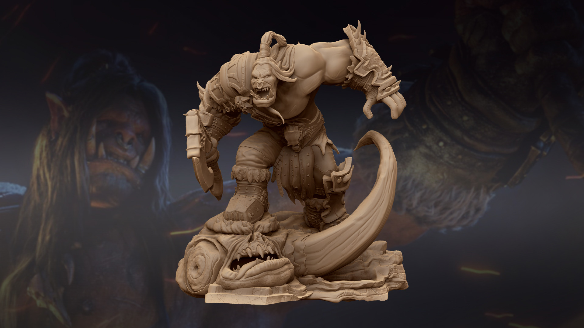 Warcraft Grommash Hellscream: STL files for 3D Printing