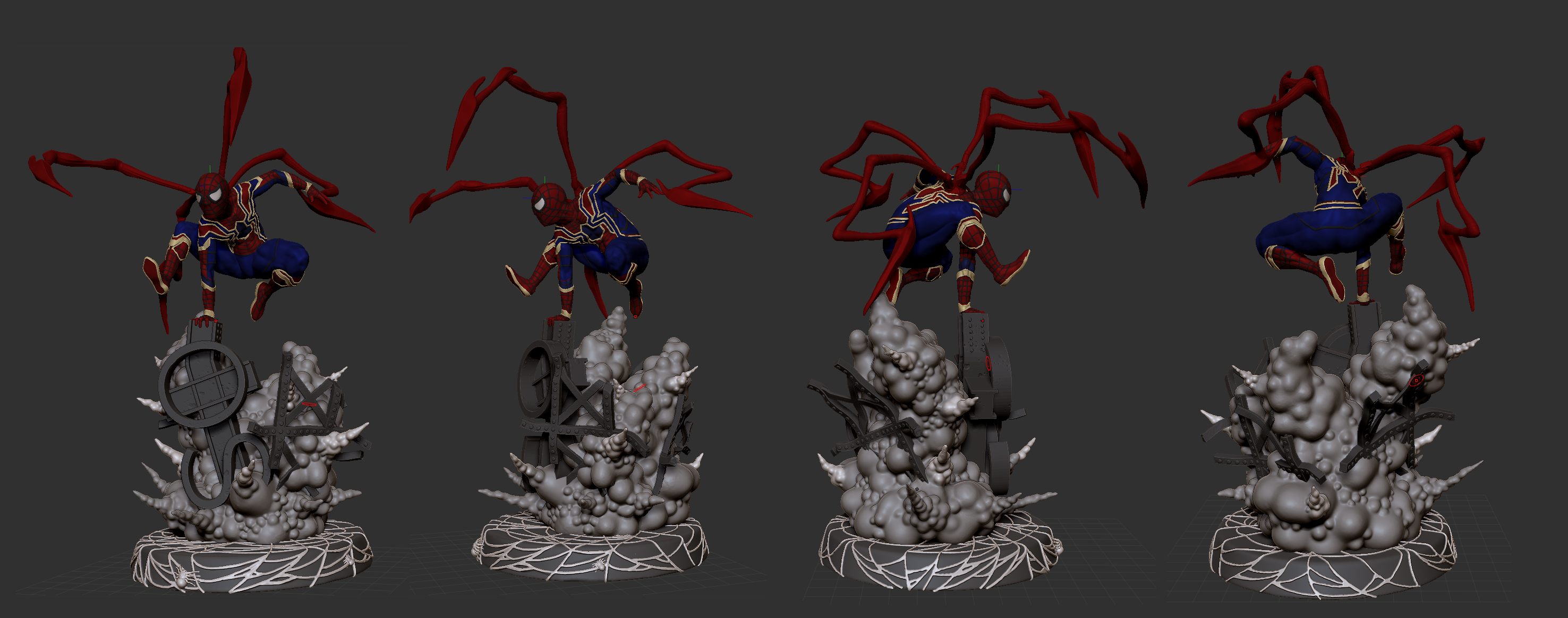 Spiderman Infinity War STL for 3D print